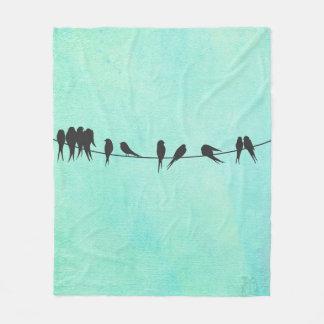 Kids, Birds On A Wire fleece blanket