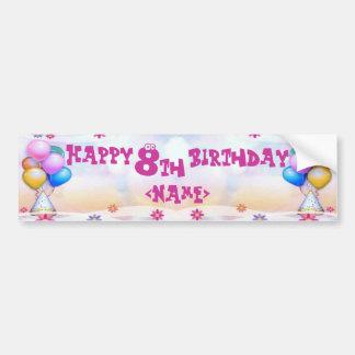 Kids Birthday Bumper Sticker