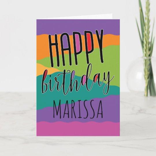 Kids Birthday Card With Name Zazzle