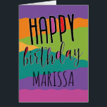 """Kids Birthday Card with Name<br><div class=""""desc"""">Send a personalized birthday wish with this colorful and stylish kids birthday card.</div>"""
