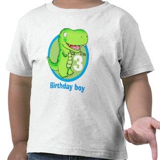 kids birthday funny cartoon T-rex Tee Shirts