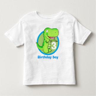 kids birthday funny cartoon T-rex T Shirt