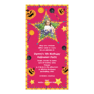 Kid's Birthday Halloween Costume Party Invitation