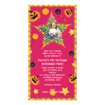 Kid's Birthday Halloween Costume Party Invitation Photo Card Template