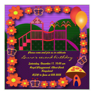 Kids Birthday Invitation: 037: Playground Two Card