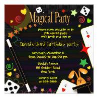 Kids birthday invitation 043 Magical Party