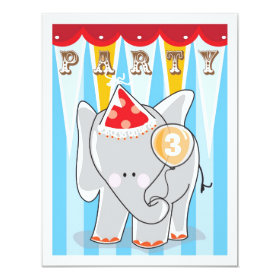Kids Birthday Invitation - Circus 4.25