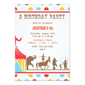 Kids Birthday Invitation - Circus 5