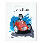 Kids Birthday Invitation - Race Car