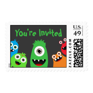 Kids Birthday Monster Postage
