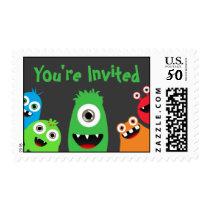 Kids Birthday Monster Postage