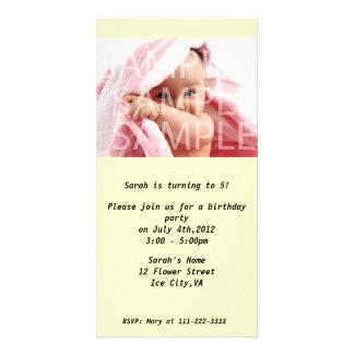 Kid's birthday party invitation