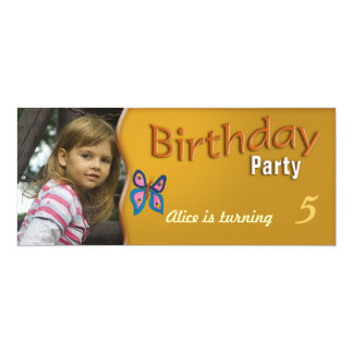 Kids Birthday Party Invitation | Cute butterfly