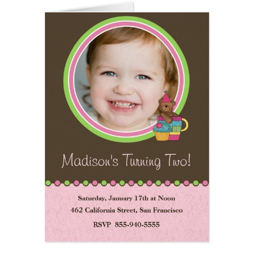 Kids Birthday Party Invitation Greeting Card