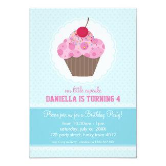 KIDS BIRTHDAY PARTY INVITE cute cupcake design
