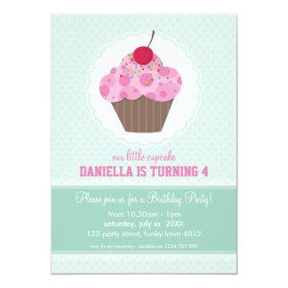 """KIDS BIRTHDAY PARTY INVITE cute cupcake design 5"""" X 7"""" Invitation Card"""