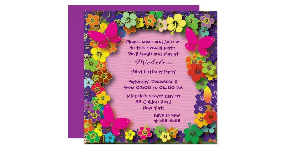 Flower Garden Birthday Party Invitations Best Flowers and Rose 2017 – Garden Birthday Party Invitations
