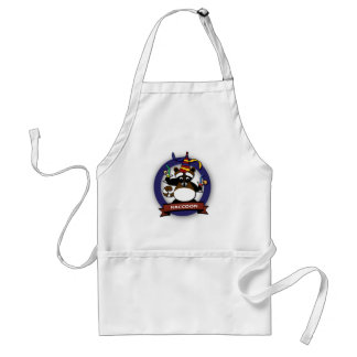 Kids birthday Party: Raccoon Adult Apron