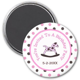 Kids Birthday Party: Save The Date Magnet zazzle_magnet