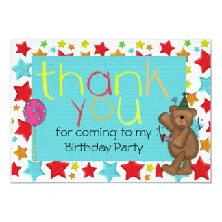 Childrens Birthday Thank You Notes Gifts On Zazzle - Children's birthday thank you notes