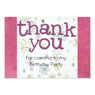 Kids Birthday Party Thank You cards