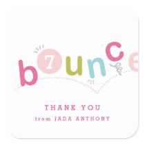 Kids birthday party thank you sticker