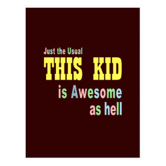 Kids birthday party theme post cards