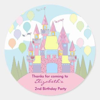 Kids Birthday Thank You Stickers: Castle Classic Round Sticker