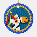 Kids Birthday: Zebra Christmas Ornament