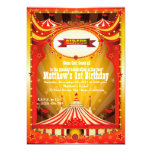 Kids Birthdy Party | Circus Carnival Invitations