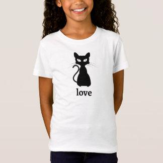 Kids Black Cat Love T-Shirt
