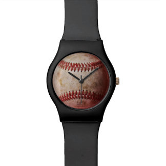 Kids Black Watch with Baseball Face