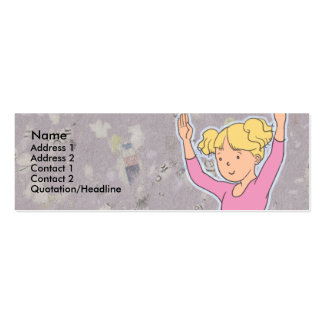 Kids Blond Ballerina Skinny Profile Cards Business Card
