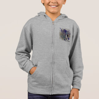Kids Blue Bull Terrier News Splash zipper Hoodie