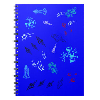 Kids Blue Space Notebooks