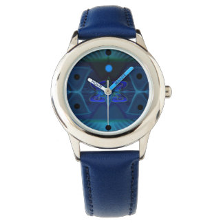 Kid's Blue Watch with Image Spaceship Interior