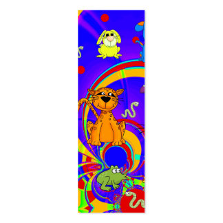 Kid's Bookmark Boys Animals Collage Mini Business Card