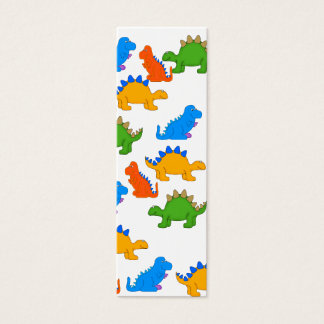Kid's Bookmark Boys Dinosaur Collage Mini Business Card