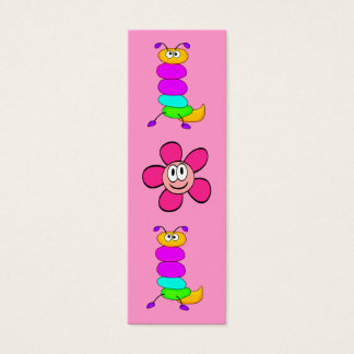 Kid's Bookmark Girls Bugs Flower Mini Business Card