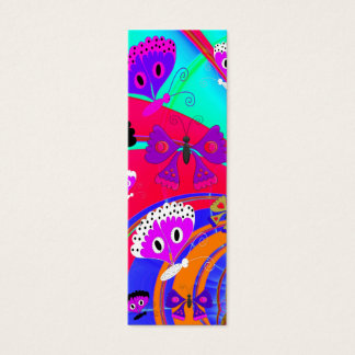 Kid's Bookmark Girls Butterfly Collage 2 Mini Business Card