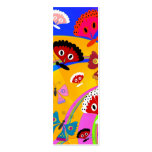 Kid's Bookmark Girls Butterfly Collage Business Card