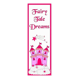 Kid's Bookmark Girls Fairy Tales Double-Sided Mini Business Cards (Pack Of 20)