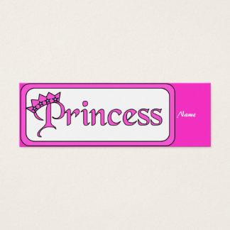Kid's Bookmark Girls Princess Mini Business Card
