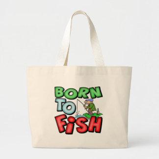 Kids Born to Fish Fishing Tote Bag
