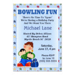 "Kids Bowling Birthday  Invitation 5"" X 7"" Invitation Card"