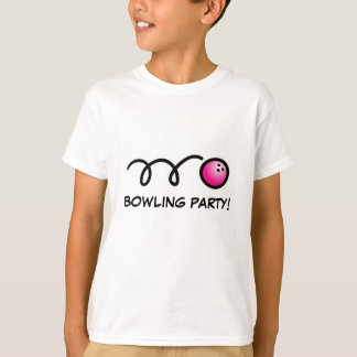 Kids bowling party shirts