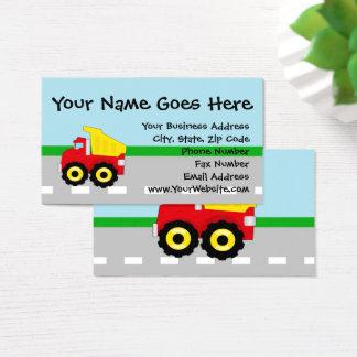 Kids Boys Construction Dumptruck Business Card