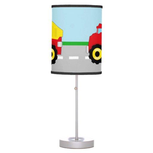 Boy Truck Lamp : Kids boys construction dumptruck desk lamp zazzle