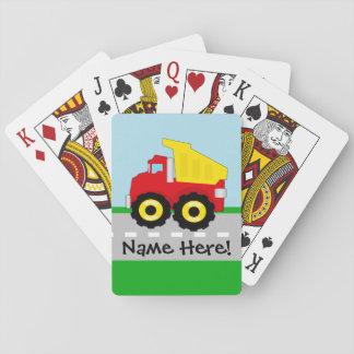 Kids Boys Construction Dumptruck Poker Cards