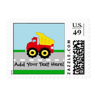 Kids Boys Construction Dumptruck Stamps